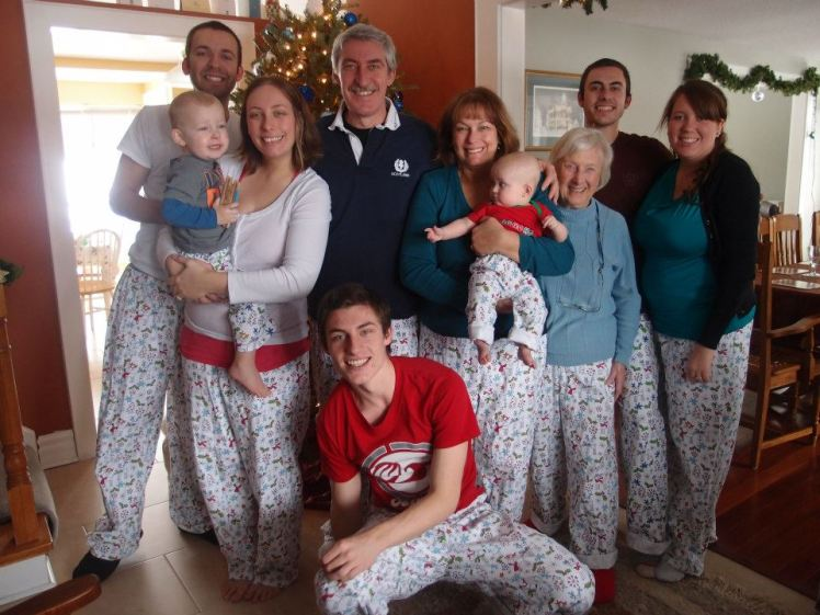 All of us in our matching pjs