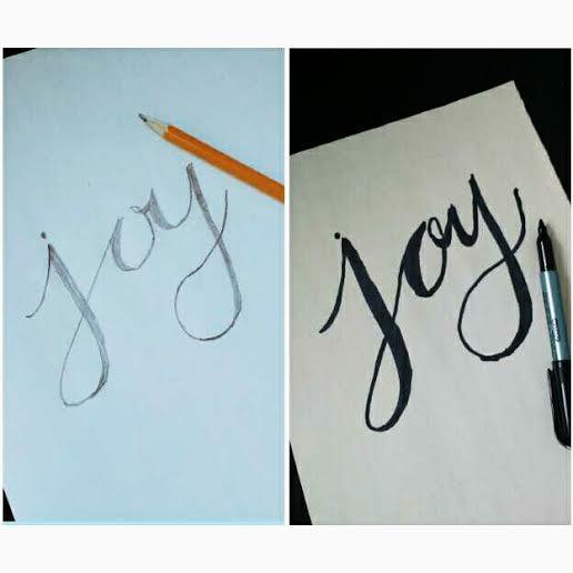 Joy lettering